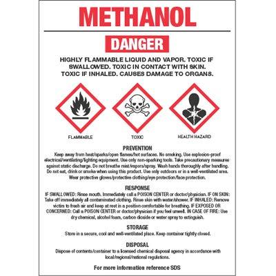 msds methanol